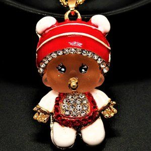 Jewelry - NEW Articulated 3D Crystal Baby Necklace Pacifier
